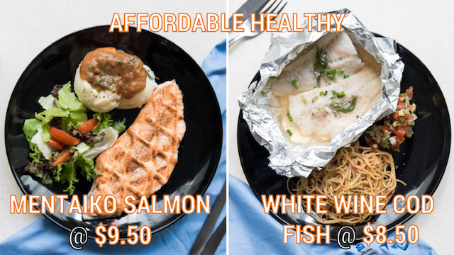 affordable-healthy-mentaiko-salmon-and-white-wine-cod-fish