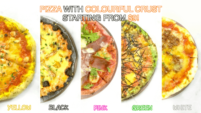 pink-black-yellow-green-and-white-pizza